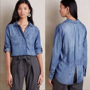 LIKE NEW cloth and stone jean button up (anthro)